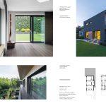 modern épület modern kerttel